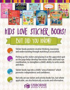 Sticker books promote creative thinking, reasoning, and understanding through…