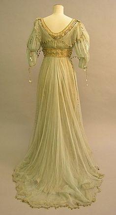 Dos robe de chiffon de soie - Robe de sortie ou bal
