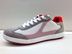 Red accents on a Prada Linea Rossa men's sneaker.