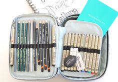 Use your Kipling 100 pen case as a portable sketching studio! labelmemerrit.com