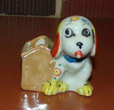 Japan Painted Lustre Luster Lusterware Dog & Dog House Toothpick Holder EUC