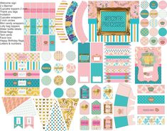 Do you have a little princess whose having a birthday? Princess birthday party pack, princess party printables in pink, gold and turquoise