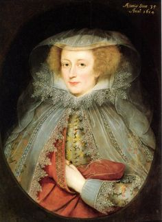 Catherine Killigrew, Lady Jermyn by Marcus Gheeraerts the Younger. There's something magical about paintings with amazing lace details. I get lost in them.
