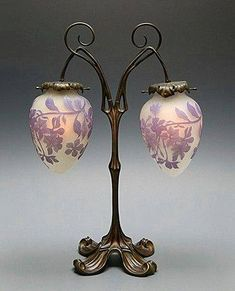 Art Nouveau Table Lamp by Èmile Gallè ca.1900