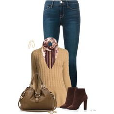 Sweater and Jeans by ksims-1 on Polyvore featuring Neiman Marcus, Frame, Giuseppe Zanotti, Gucci, Movado and Burberry