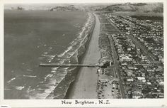 New Brighton, this was probably before the Christchurch New Zealand, New Brighton, Old Photos, Railroad Tracks, Past, Restoration, History, Places, Nature