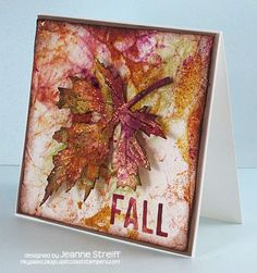 Fall card by Jeanne Streiff - Layered Leaf die
