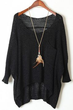 $17.07 for Solid Color Front Pocket Loose Sweater