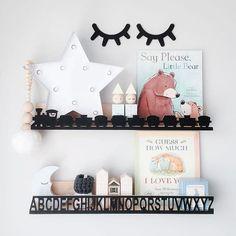 mommo design: TRENDY SHELVES - Train and alphabet shelves