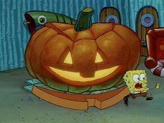 Halloween Icons, Halloween Ii, Retro Halloween, Halloween Inspo, Halloween Cartoons, Halloween Pictures, Happy Halloween, Spongebob Halloween, Halloween Painting