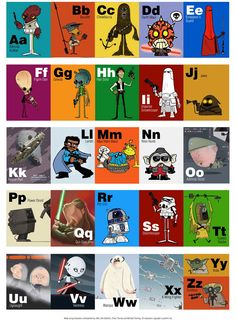 Star Wars alphabet - omg, words cannot express how in love I am with this! lol