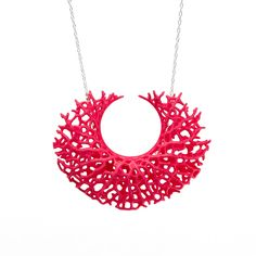 My design inspiration: Vessel Pendant Neon Pink on Fab. Sweet Style, My Style, Organic Structure, Everything Pink, Sterling Silver Necklaces, Tech Accessories, 3d Printing, Delicate, Neon