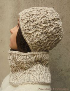 Fashion art knit / hand-knitted two colors brioche / by KnittedAir