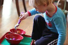 Ornament Scooping   Montessori Mischief