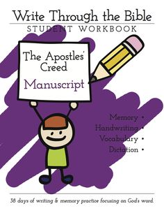 Apostles Creed Manuscript Cover
