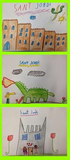 SANT JORDI - Material: paper i colors - Nivell: Primària CI 2014/15
