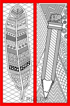 Coloring Bookmarks as gifts for Fathers #bookmark #coloring