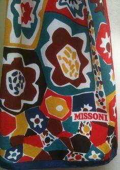Vintage 1980s MISSONI Floral Silk Scarf by ranchqueenvintage, $86.00