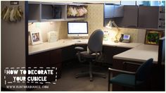 This cubicle makeover is really cute! I think I'd like to try this in my office as well. I like the wallpaper and the cute anthro bowls.