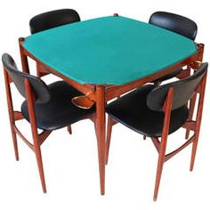 Poker Table by Gio Ponti for the Fratelli Reguitti | From a unique collection of antique and modern game tables at https://www.1stdibs.com/furniture/tables/game-tables/