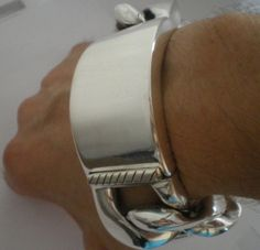 35mm Mens Identity Bracelet... This is a BIG, Fat, Thick ID Bracelet. 926 Solid Sterling Silver. Biggest on the net ?