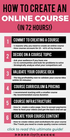 Here's how to create an online course in just 72 hours, with step-by-step tips for your business! Decide on a course idea, craft your course outline, design your course website, discover the best course hosting platform to use, and how to create your course videos and worksheets. Let's make money with courses! #online #courses #entrepreneur