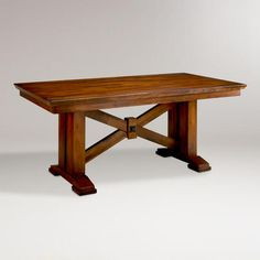 "Lugano Dining Table - Cost Plus World market - solid wood $499 - 72""W x 40""D x 30""H; 193 lbs.  seats 6 - for kitchen eat in area"