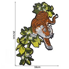 Tiger Patch1 Pieces Big Tiger Embroidered Applique by EsonfashionI