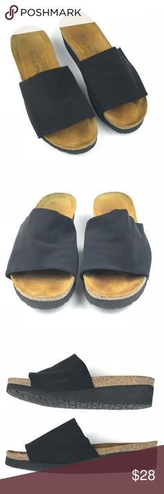 Naot womens Alina Black Slide Sandals size 37 Naot Slide Sandals Style is  Alina Pre- 706266685