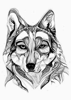Zentangle Wolf | Bilder Land