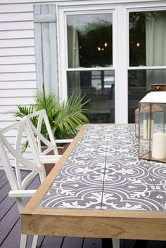 DIY Outdoor Furniture Projects For Your Backyard Wonderful way to incorporate tile into furniture for outdoor living! The post DIY Outdoor Furniture Projects For Your Backyard appeared first on Outdoor Diy. Diy Tile, Table Makeover, Diy Outdoor Furniture, Diy Patio, Farmhouse Diy, Diy Table Top, Diy Outdoor, Wood Diy, Tile Tables