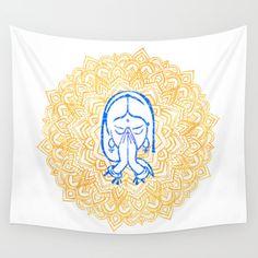 Mandala Tapestry, Wall Tapestry, Energy Symbols, Flower Mandala, Yoga Meditation, Namaste, Reiki, Geometry, Wisdom