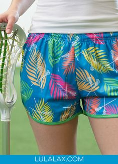 We're feeling the tropical summer vibes with these vibrant, colorful lacrosse shorts! Casual Shorts, Gym Shorts Womens, Tropical, Girls Lacrosse, Top Girls, Outfits, Summer Vibes, Tops, Pride