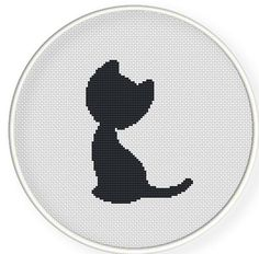 Instant download,free shipping,Cross stitch pattern, Cross-Stitch PDF,grey cat,zxxc0231: