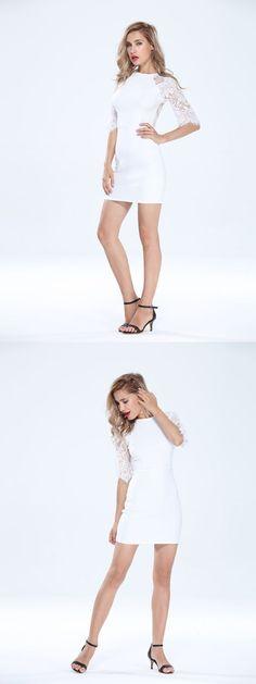 Lace half sleeve sexy backless back zipper women dress lace dresses singapore #lace #dresses #clubwear #lace #dresses #jcpenney #lace #dresses #nigerian #lace #dresses #online #shopping