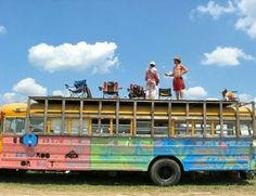 Imagine traveling the country with your closest friends in this