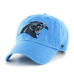 8c816447d Carolina Panthers Clean Up Glacier Blue 47 Brand Adjustable Hat