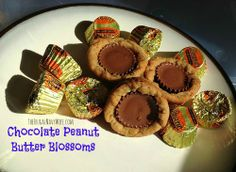 Chocolate Peanut Butter Blossoms #recipe #cookie #dessert #chocolate #peanutbyetter