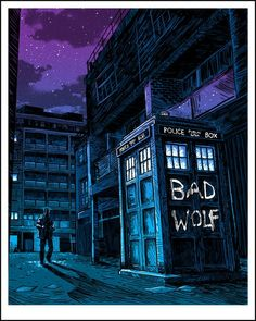 {Who} Bad Wolf. #DoctorWho #BadWolf #art #SciFi
