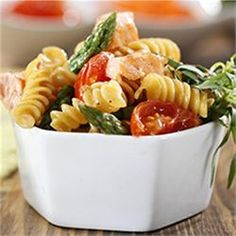 Rotini with Asparagus, Salmon and Cherry Tomatoes - Allrecipes.com