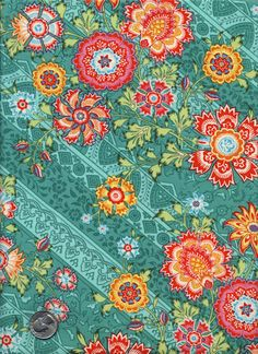 1/2 Yard Amy Butler Lark  Heirloom  PWAB75 Jade Green by viasplace, $4.50