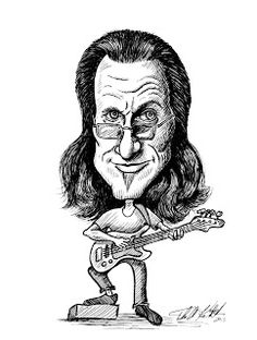 Tom Kbrink's Art and Holistic Living: Geddy Lee Artwork...Rockin the Bass