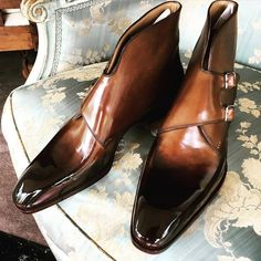 Handcrafted Men's Leather Double Monk Strap Shoes - Mens Shoes - Dress With Boots, Dress Shoes, Dress Clothes, Adidas Sl 72, Double Monk Strap Shoes, Gentleman Shoes, Zapatos Shoes, Mens Boots Fashion, Men's Fashion