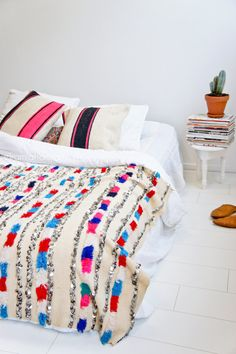 Moroccan wedding blanket-Colorful blanket - Moroccan Decoration