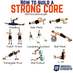 WANT TO KNOW HOW TO BUILD A STRONG CORE? Lets talk core trunk and ab strength. First things first get off your back when training your core. I advise for only a few exercises that have you belly up. Advanced Core Exercises, Core Exercises For Women, Core Exercises For Beginners, Core Strength Exercises, Stability Exercises, Workout For Beginners, Core Stability, Beginner Core Workout, Core Muscle Exercises