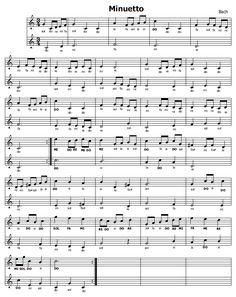 Musica e spartiti gratis per flauto dolce: Minuetto di BACH (2 flauti)