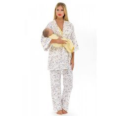 0671153c1d588 Olian Maternity Yellow Flowers Nursing Pajama Set. Gender neutral and a  great gift! Order. TummyStyle Maternity & Baby