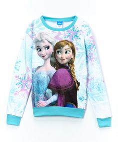 This Blue Snow Sisters Fleece Pullover - Girls by Frozen is perfect! #zulilyfinds