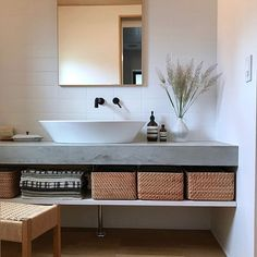 Washroom Design, Stainless Steel Kitchen, Modern Bedroom, Powder Room, Double Vanity, My Dream Home, Laundry Room, Room Decor, Interior