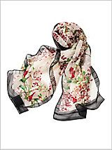 Color you cardinal. Avian-inspired scarf will be a distinctive addition to your accessory collection. Black framing allows this lovely look to be wearable in all four seasons Clothes For Women Over 50, Special Occasion Outfits, Alexander Mcqueen Scarf, Women Accessories, Plus Size, Fashion Outfits, Stylish, Fashion Suits, Dressy Outfits